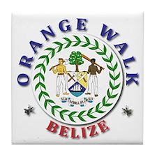 Orange Walk Tile Coaster