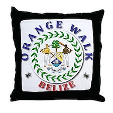 Orange Walk Throw Pillow