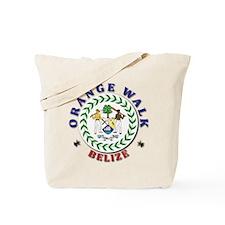 Orange Walk Tote Bag