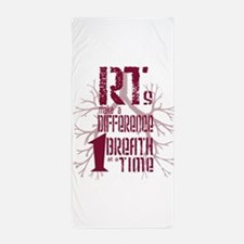 RT-Difference-burgundy Beach Towel