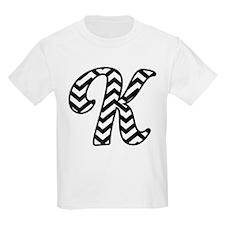 Letter K Chevron Monogram T-Shirt