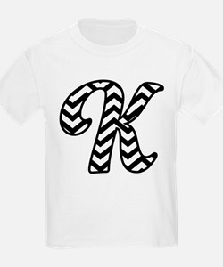 Letter K Chevron Monogram T-Shirt