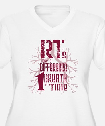 RT-Difference-burgundy Plus Size T-Shirt