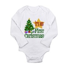 Cute Babies 1st christmas Long Sleeve Infant Bodysuit