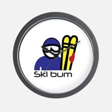 Ski Bum Wall Clock