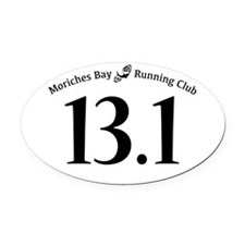 MBRC Car Magnet - White 13.1 Oval Car Magnet