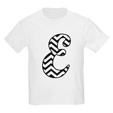 Letter E Chevron Monogram T-Shirt