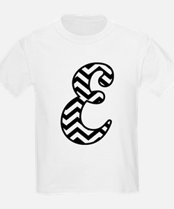 Letter E Chevron Monogram T-Shirt