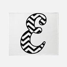 Letter E Chevron Monogram Throw Blanket