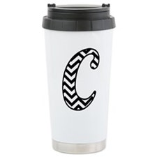 Letter C Chevron Monogr Travel Coffee Mug
