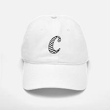 Letter C Chevron Monogram Baseball Baseball Cap