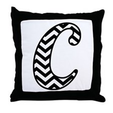 Letter C Chevron Monogram Throw Pillow