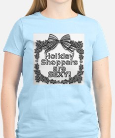 Holiday Shoppers Are Sexy! Women's Pink T-Shirt