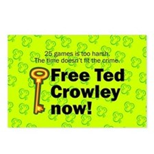 Free Ted Crowley now! Postcards (Package of 8)