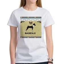 sandstone Basenji notecard.jpg T-Shirt