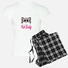 Cat Lady Gray Cat Pajamas