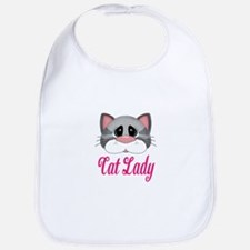 Cat Lady Gray Cat Bib