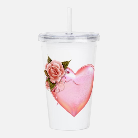 Romantic Hearts Acrylic Double-wall Tumbler
