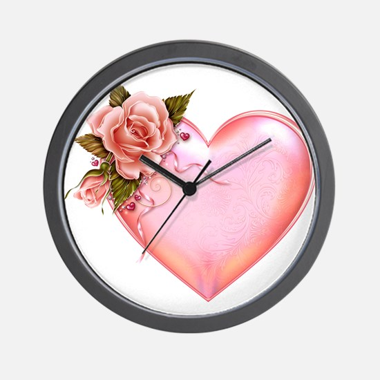 Romantic Hearts Wall Clock