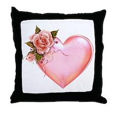 Romantic Hearts Throw Pillow