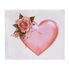 Romantic Hearts Throw Blanket
