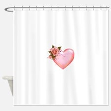 Romantic Hearts Shower Curtain