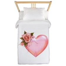 Romantic Hearts Twin Duvet