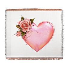 Romantic Hearts Woven Blanket