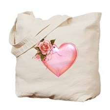 Romantic Hearts Tote Bag