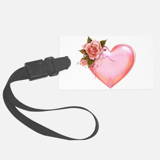 Romantic Hearts Luggage Tag