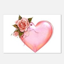 Romantic Hearts Postcards (Package of 8)