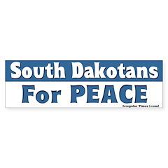 South Dakotans for Peace Bumpersticker