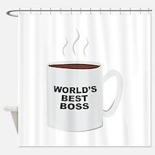 Worlds Best Boss Shower Curtain