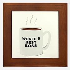 Worlds Best Boss Framed Tile