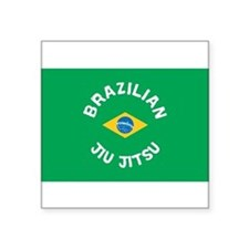 "Unique Jiu jitsu brazilian Square Sticker 3"" x 3"""