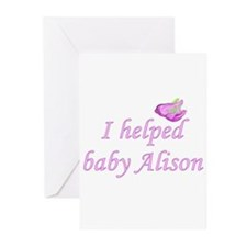 I Helped Alison Part 2 Greeting Cards (Package of