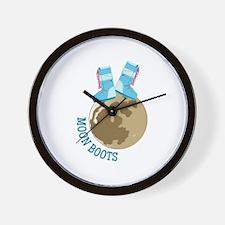 Moon Boots Wall Clock