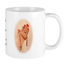 Pray the Rosary Small Mug