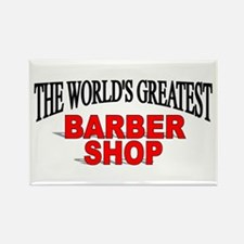 """The World's Greatest Barber Shop"" Rectangle Magne"