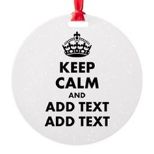 Personalized Keep Calm Ornament