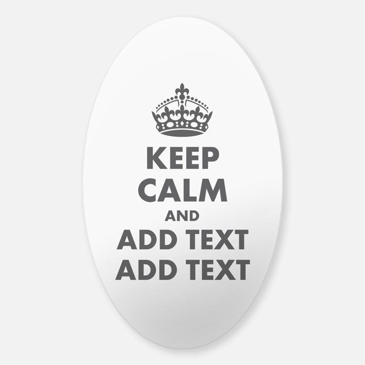 Personalized Keep Calm Decal