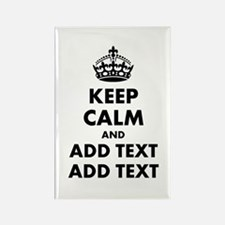 Personalized Keep Calm Rectangle Magnet (100 pack)