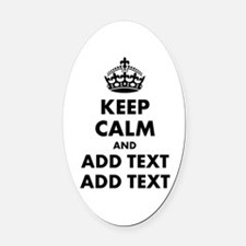 Personalized Keep Calm Oval Car Magnet