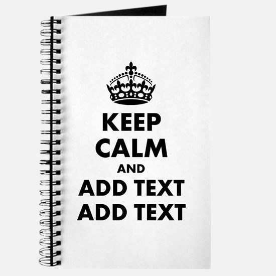 Personalized Keep Calm Journal