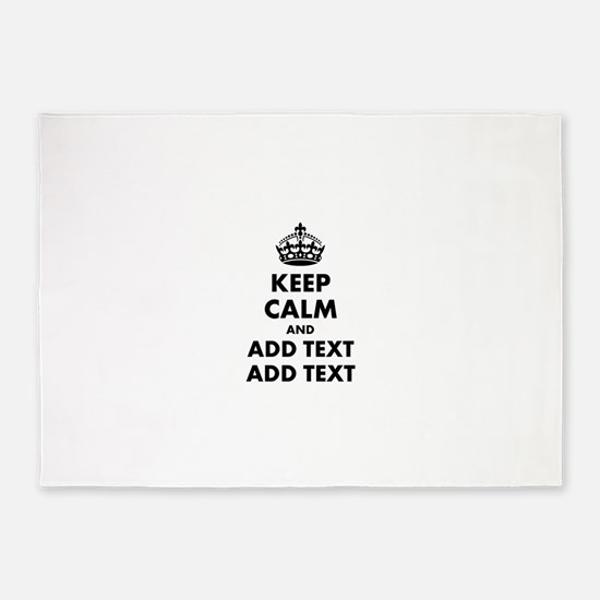 Personalized Keep Calm 5'x7'Area Rug