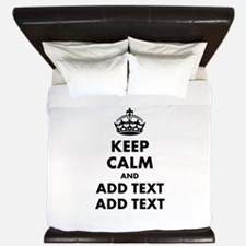 Personalized Keep Calm King Duvet