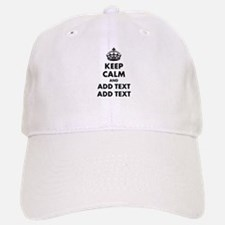 Personalized Keep Calm Baseball Baseball Cap