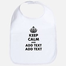 Personalized Keep Calm Bib