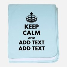 Personalized Keep Calm baby blanket