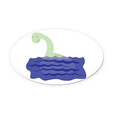 Loch Ness Monster Oval Car Magnet